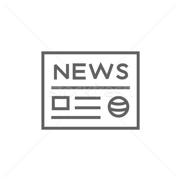Periódico línea icono esquinas web móviles Foto stock © RAStudio