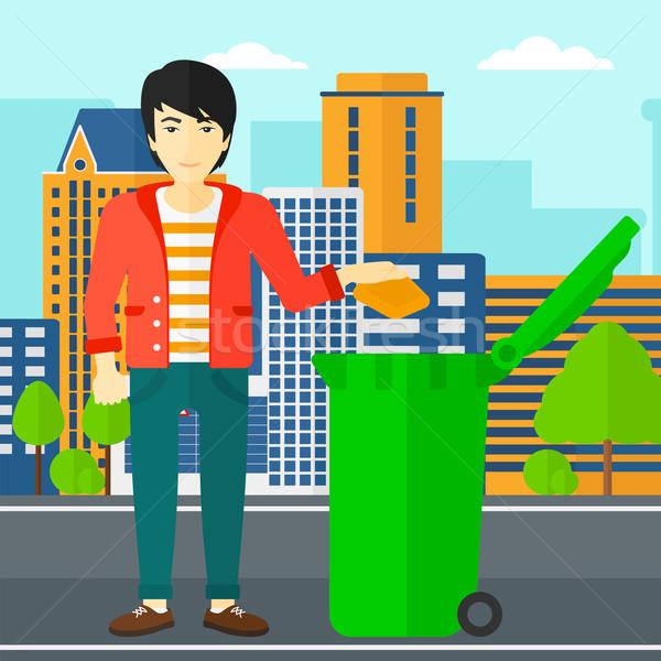 男 ゴミ アジア 緑 ストックフォト © RAStudio