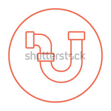 Víz csővezeték vonal ikon sarkok háló Stock fotó © RAStudio