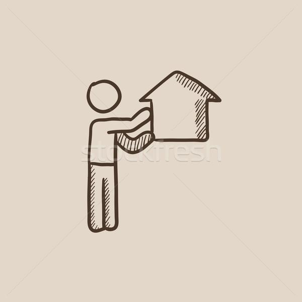 Real estate agent sketch icon. Stock photo © RAStudio