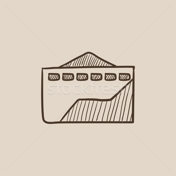 Fábrica esboço ícone teia móvel infográficos Foto stock © RAStudio