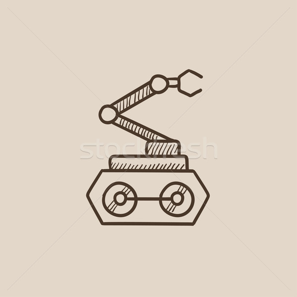 Industrial mechanical robot arm sketch icon. Stock photo © RAStudio