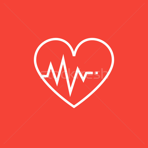 Serca kardiogram line ikona symbol Zdjęcia stock © RAStudio