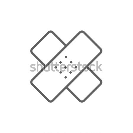 Stock photo: Adhesive bandages line icon.