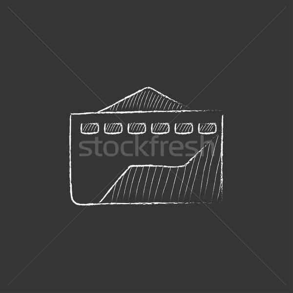 завода мелом икона рисованной вектора Сток-фото © RAStudio