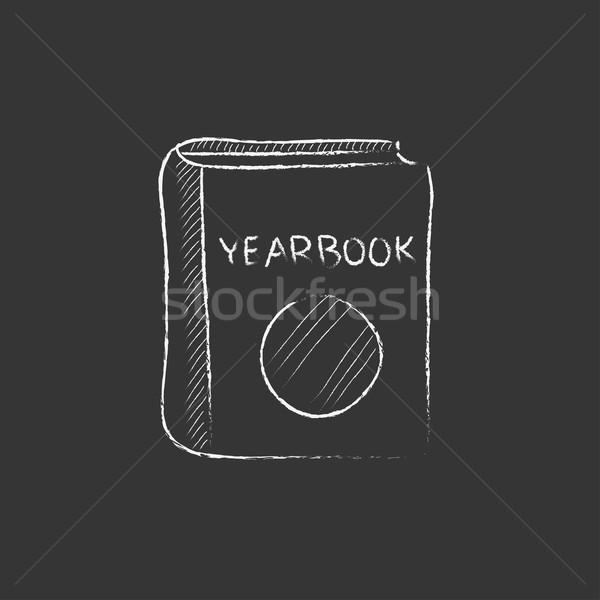 évkönyv rajzolt kréta ikon kézzel rajzolt vektor Stock fotó © RAStudio