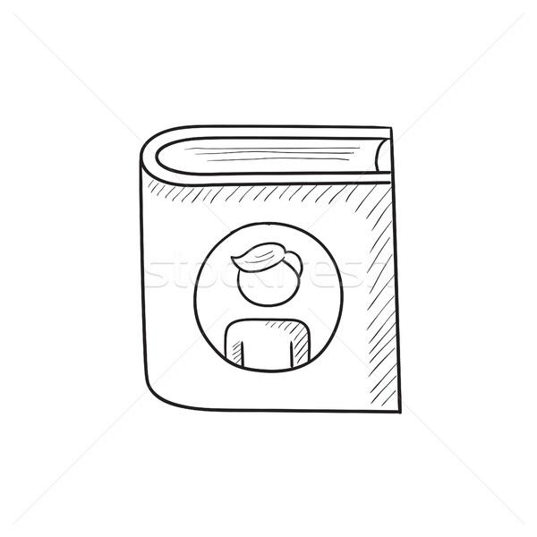 Familie schets icon vector geïsoleerd Stockfoto © RAStudio