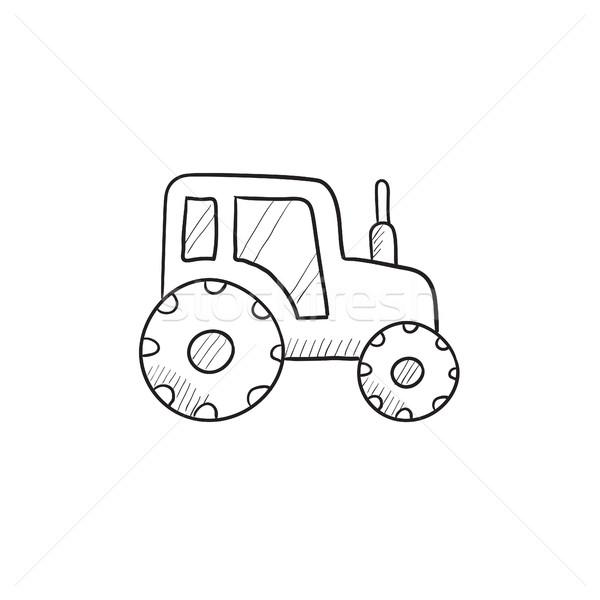 Trekker schets icon vector geïsoleerd Stockfoto © RAStudio