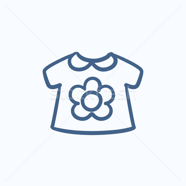 Baby loose jacket sketch icon. Stock photo © RAStudio