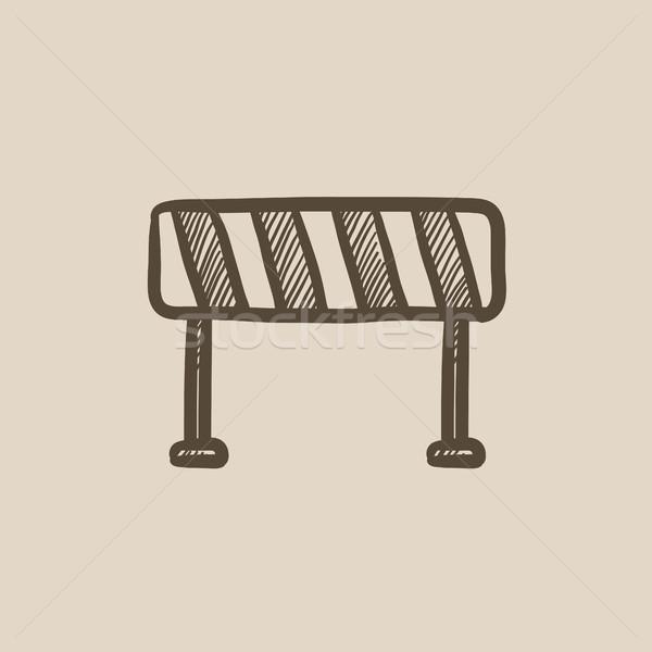 Estrada esboço ícone vetor isolado Foto stock © RAStudio