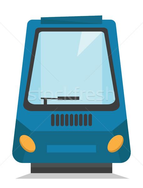 Moderne trein achteraanzicht vector Stockfoto © RAStudio