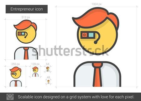Przedsiębiorca line ikona wektora odizolowany biały Zdjęcia stock © RAStudio