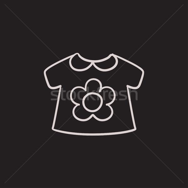 Bebé suelto chaqueta boceto icono vector Foto stock © RAStudio