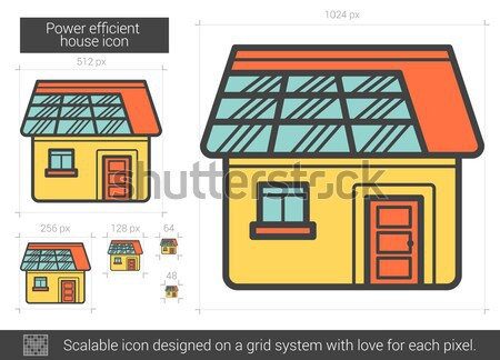 Power efficient house line icon. Stock photo © RAStudio