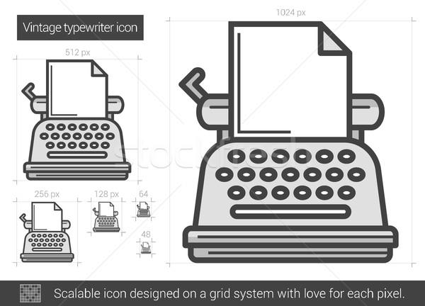 Vintage typewriter line icon. Stock photo © RAStudio