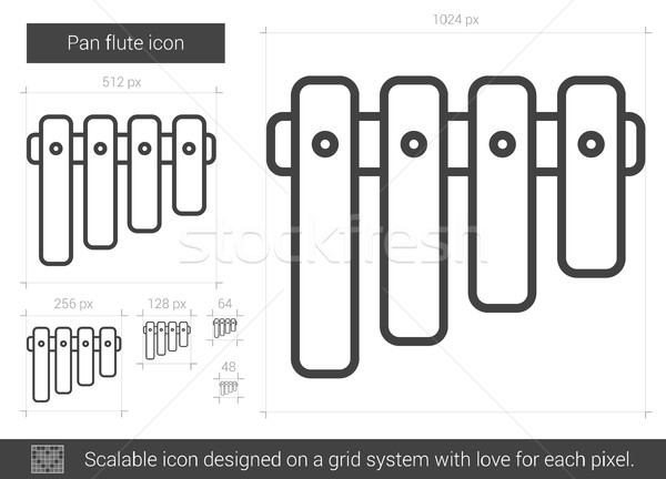 Pan flute line icon. Stock photo © RAStudio