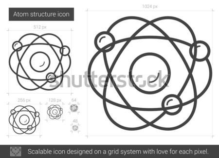 Atom structure line icon. Stock photo © RAStudio