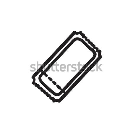 Cinema ticket sketch icon. Stock photo © RAStudio