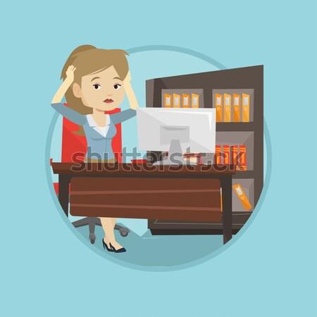 Kobieta gry gra komputerowa młodych Zdjęcia stock © RAStudio