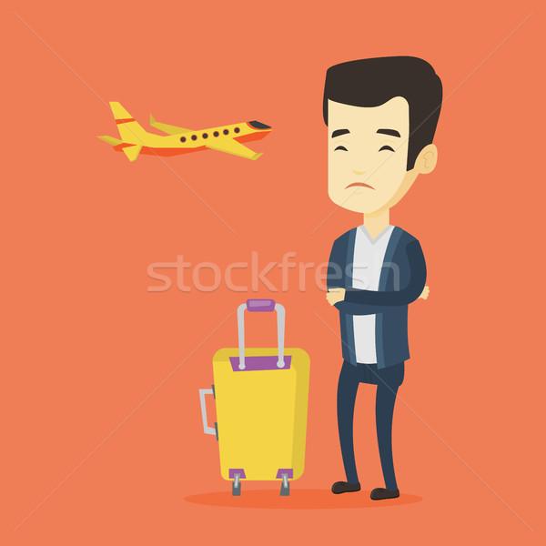 ストックフォト: 若い男 · 恐怖 · 飛行 · 小さな · アジア