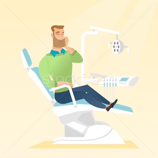 Man suffering from toothache. Stock photo © RAStudio