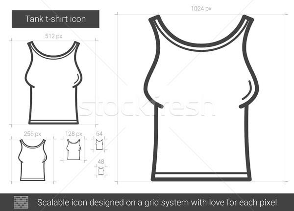 Zbiornika tshirt line ikona wektora odizolowany Zdjęcia stock © RAStudio