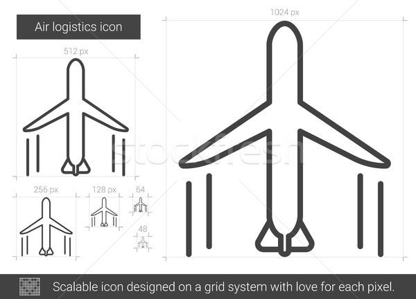 Aire línea icono vector aislado blanco Foto stock © RAStudio