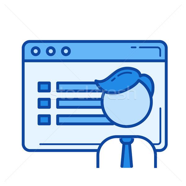 Użytkownik interfejs line ikona wektora odizolowany Zdjęcia stock © RAStudio
