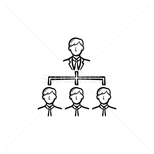 Business meeting hand drawn sketch icon. Stock photo © RAStudio