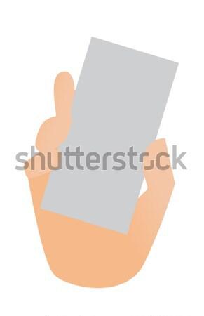 人の手 名刺 ベクトル 漫画 実例 ストックフォト © RAStudio