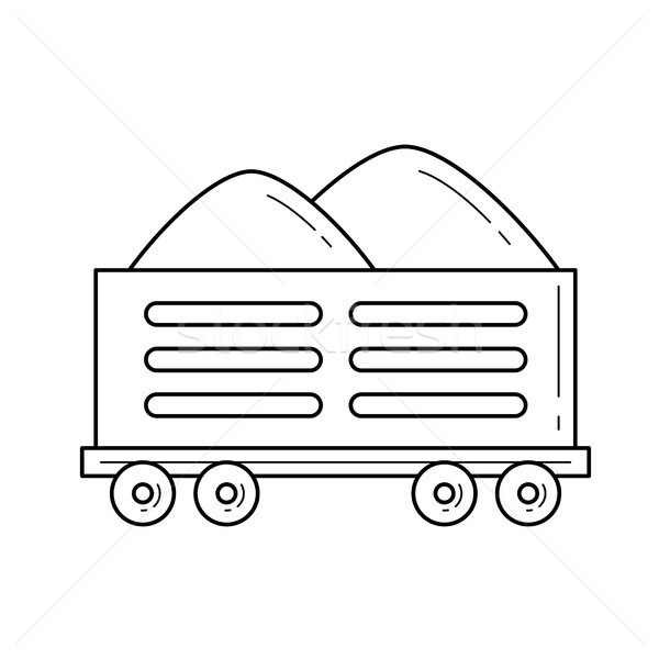 Ferrocarril envío vector línea icono aislado Foto stock © RAStudio