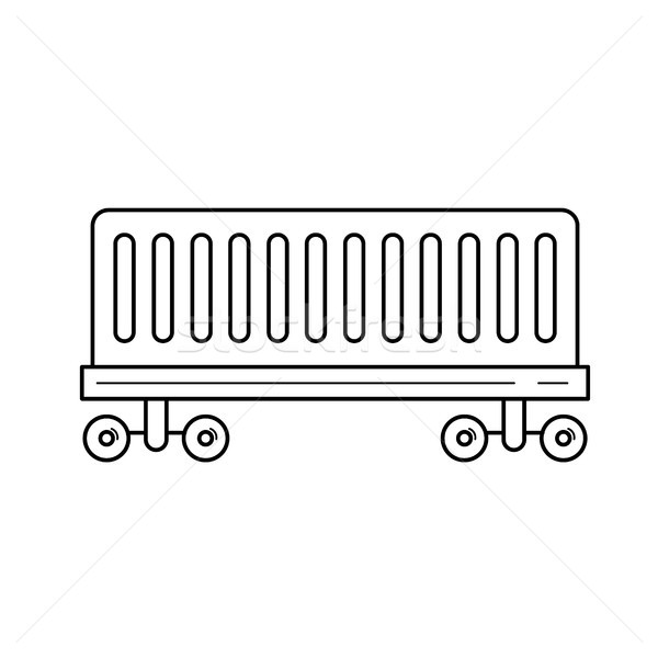 Railroad delivery vector line icon. Stock photo © RAStudio