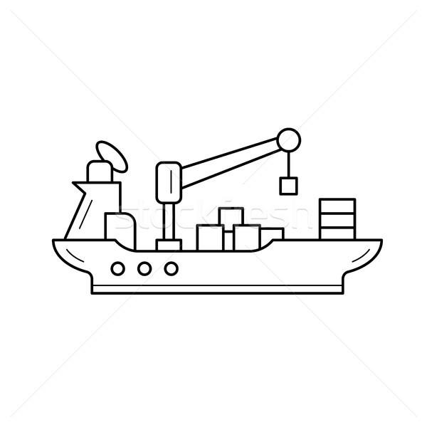 Water transportation vector line icon. Stock photo © RAStudio