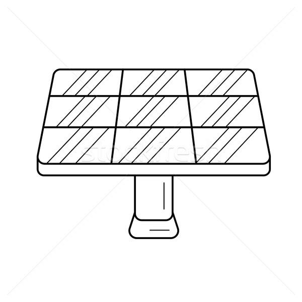 Solar panel vector line icon. Stock photo © RAStudio