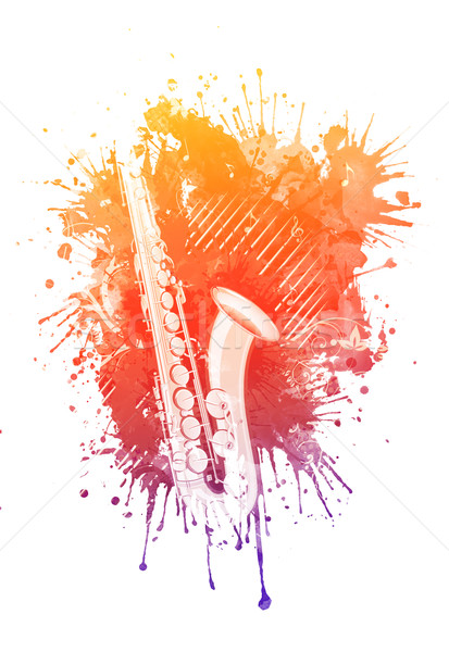 Watercolor Saxophone Stock photo © RAStudio