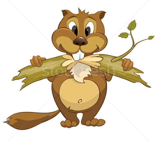 Cartoon Character Beaver Stock photo © RAStudio