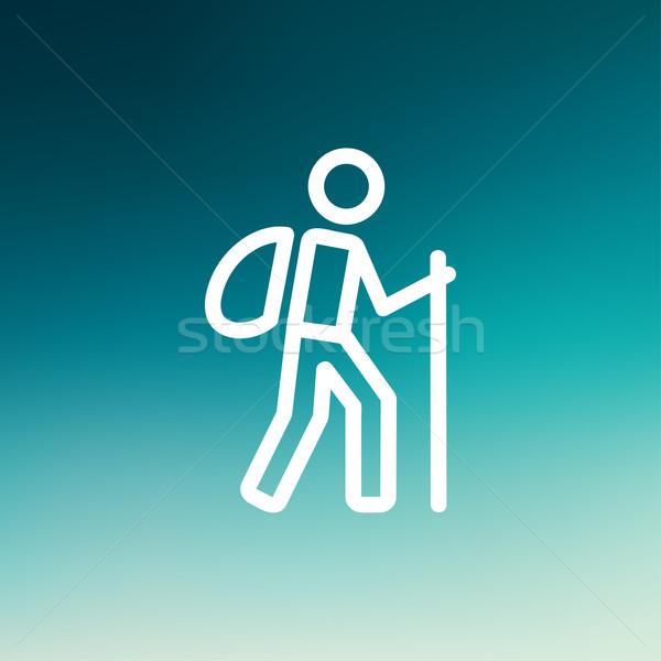 ハイキング 行使 薄い 行 アイコン ウェブ ストックフォト © RAStudio