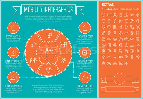 Mobilität line Design Vorlage Elemente Stock foto © RAStudio