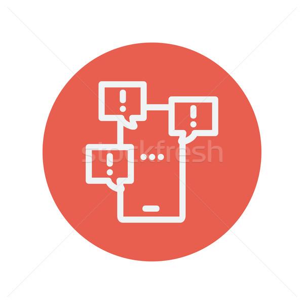érintőképernyő telefon hiba üzenetek buborékok vékony Stock fotó © RAStudio