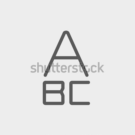 Alphabet with bold font thin line icon Stock photo © RAStudio