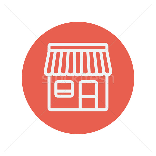 Store stall thin line icon Stock photo © RAStudio
