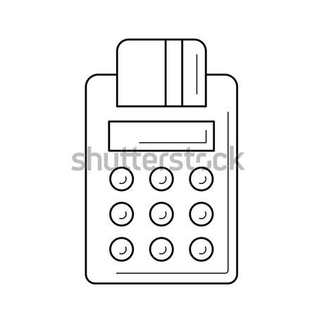 Télécopieur craie dessinés à la main tableau noir vecteur Photo stock © RAStudio