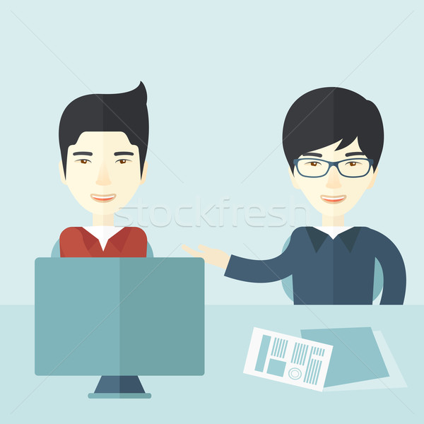Two professional businessmen Stock photo © RAStudio