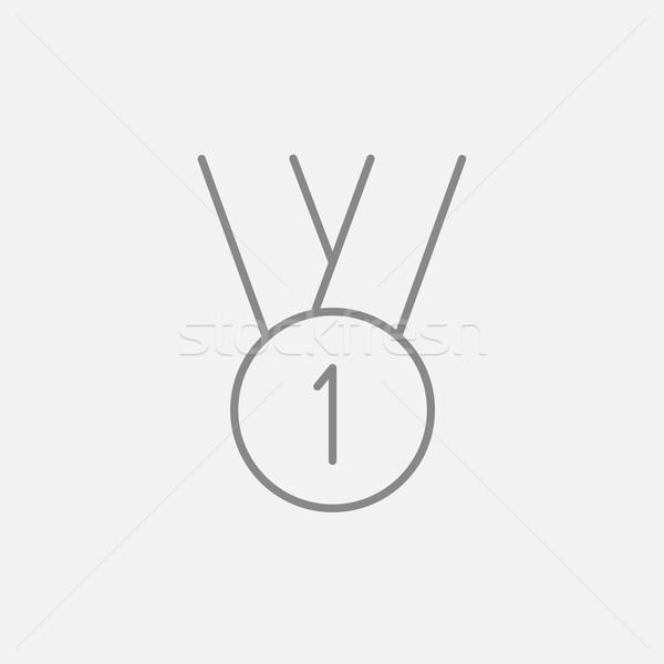 金メダル 最初の場所 行 アイコン ウェブ 携帯 ストックフォト © RAStudio