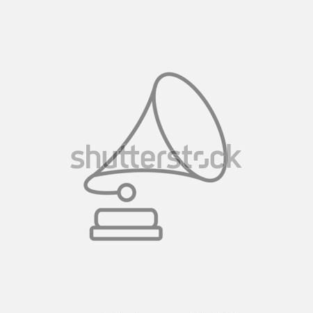 Stock photo: Gramophone line icon.