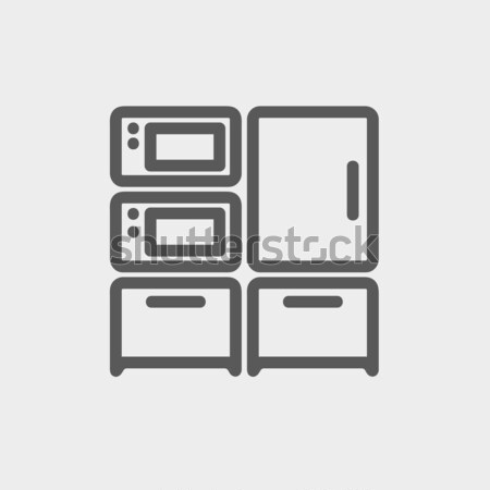 Household appliances line icon. Stock photo © RAStudio
