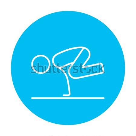 Man practicing yoga line icon. Stock photo © RAStudio