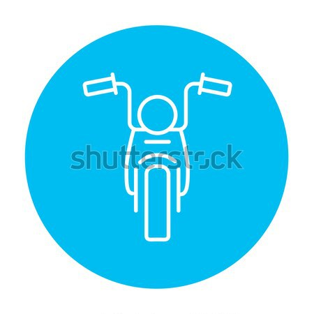 Motorcycle line icon. Stock photo © RAStudio
