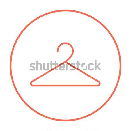 Wieszak line ikona internetowych komórkowych infografiki Zdjęcia stock © RAStudio