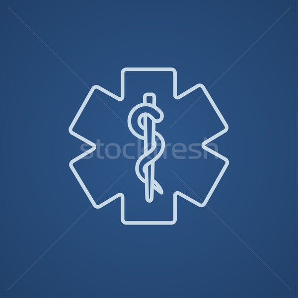 Medical symbol line icon. Stock photo © RAStudio